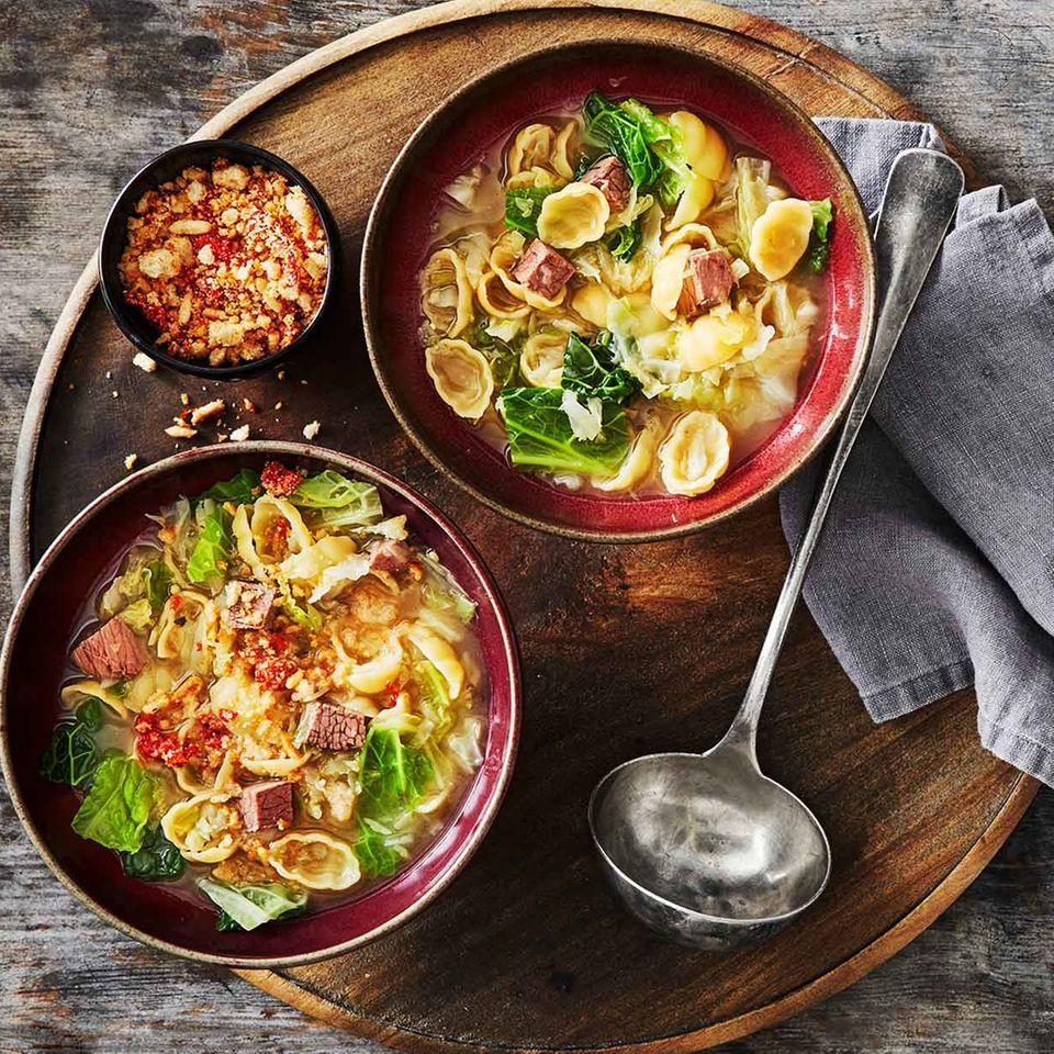 Rindfleisch-Wirsing-Eintopf mit Tomatenbröselei für Thermomix ®
