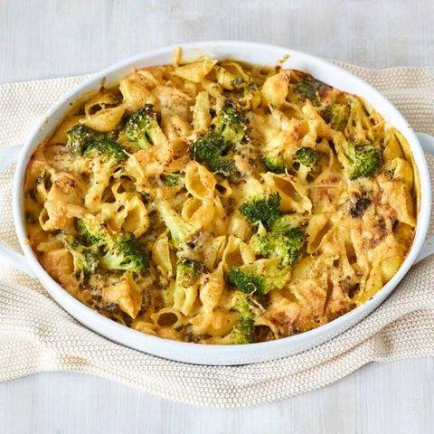 Spinat-Broccoli-Nudelauflauf