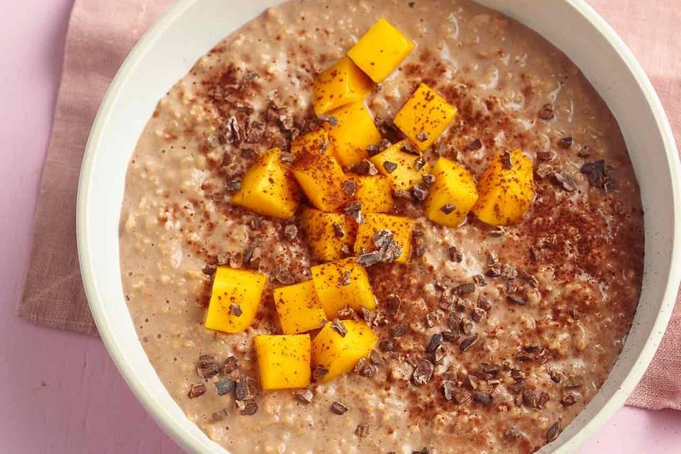Kaffee-Mango-Porridge Rezept