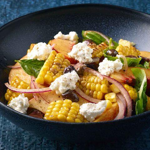 Mais-Pfirsich-Salat