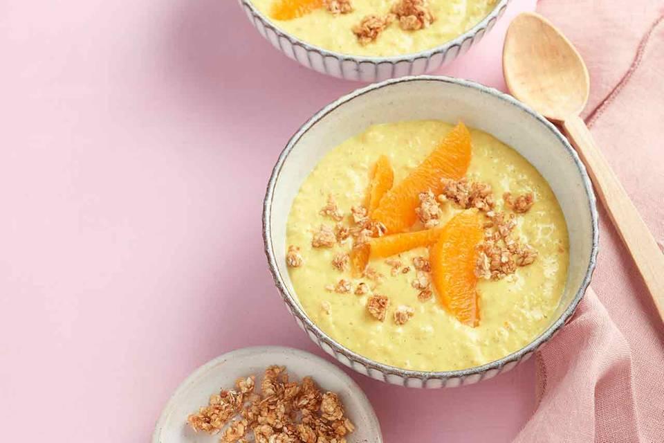 Kurkuma-Orangen-Porridge Rezept