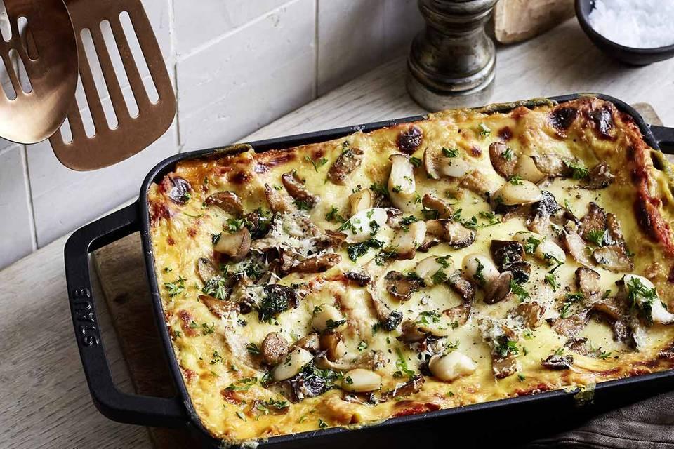 Lasagne mit Linsen und Pilzen Rezept
