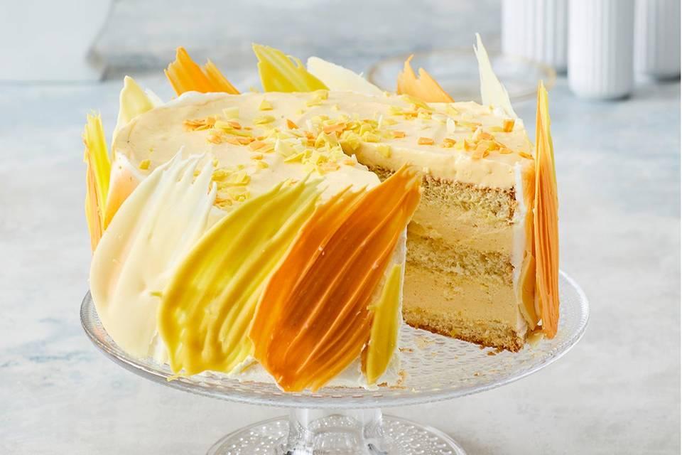 Mango-Brushstroke-Torte Rezept