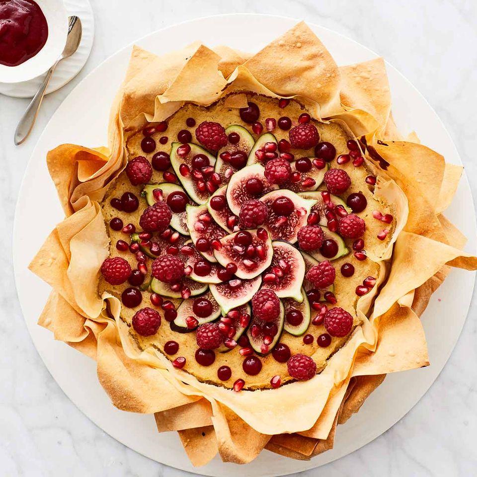 Filoteig-Tarte mit Marzipancreme und Feigen