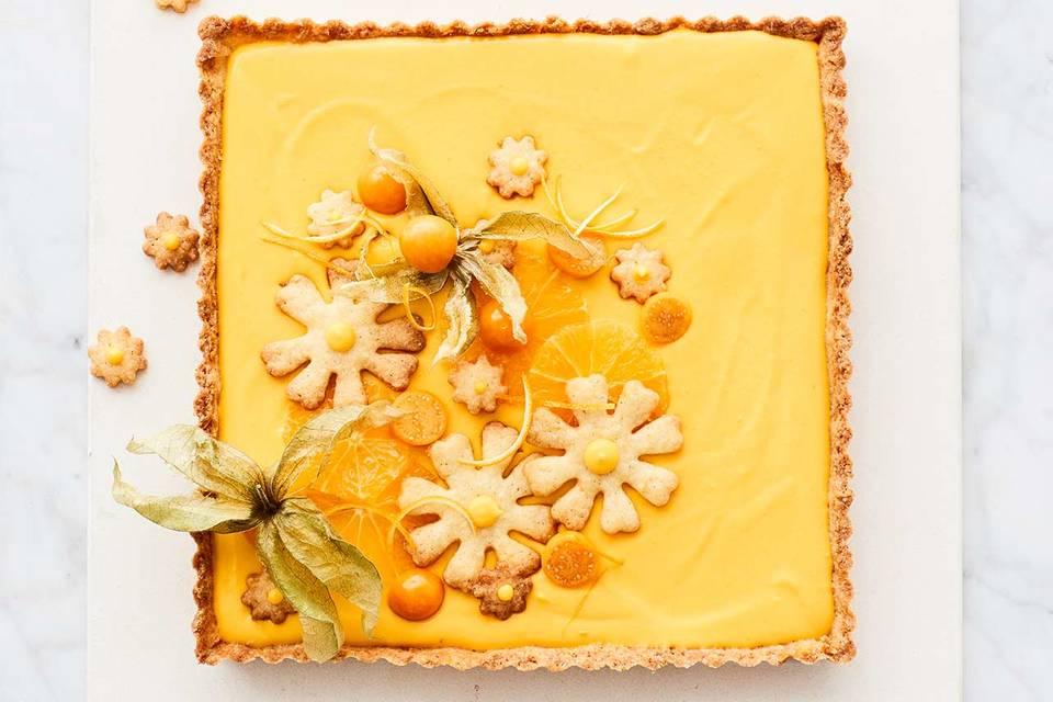 Kürbis-Orangencreme-Tarte Rezept