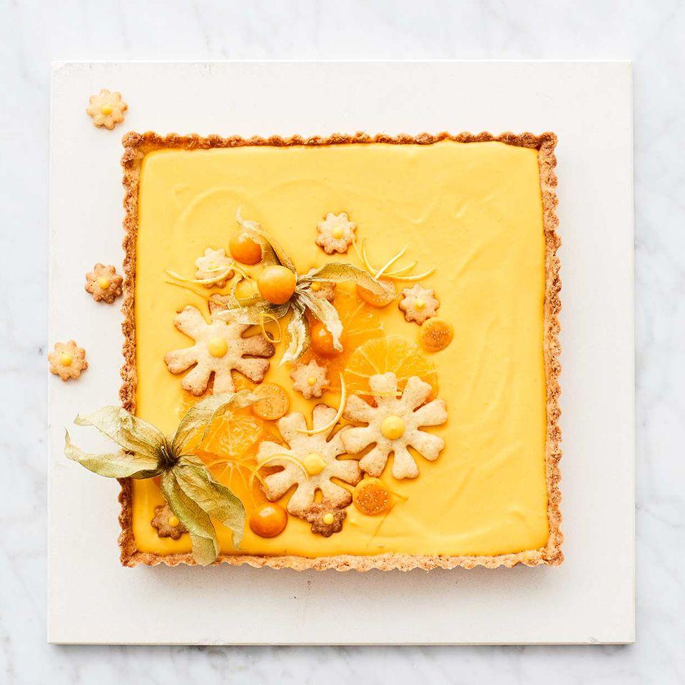 Kürbis-Orangencreme-Tarte