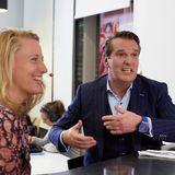 Ralf Dümmel und Christina Hollstein amüsieren sich beim Podcast Quatschen mit Sauce