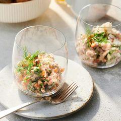 Krabbensalat mit Kräutern und Meerrettich