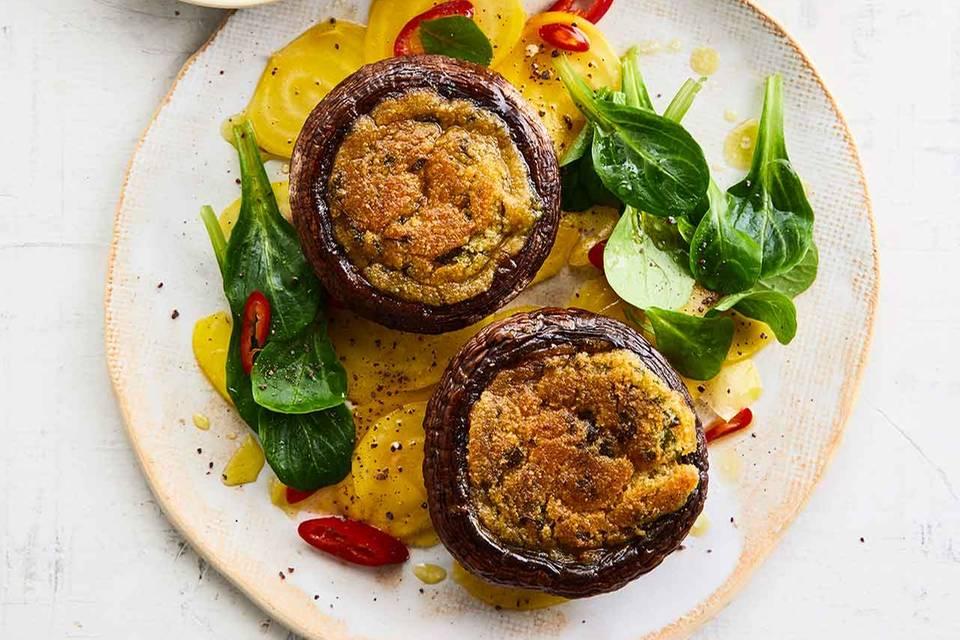 Portobello-Pilze mit Orangenbutter Rezept