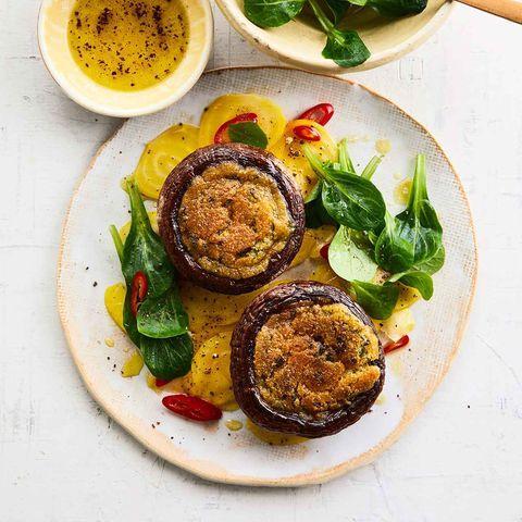 Portobello-Pilze mit Orangenbutter