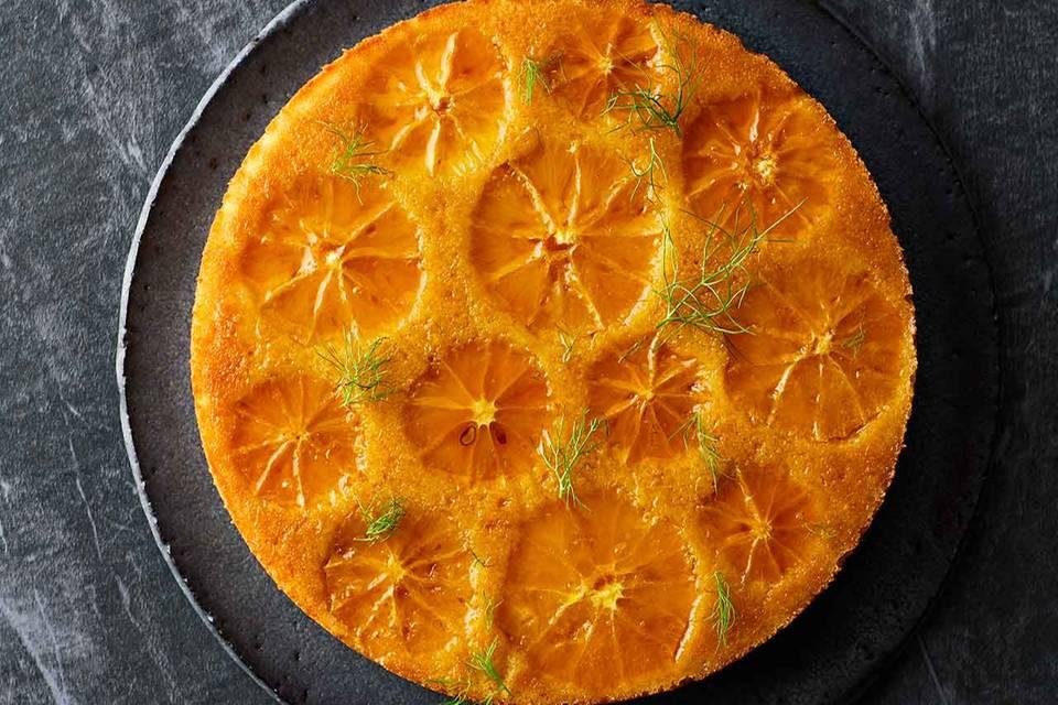 Orangen-Grieß-Kuchen mit Fenchel Rezept