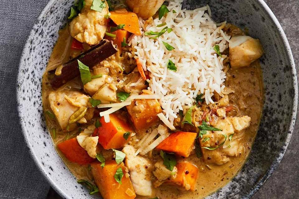 Fisch-Curry mit Kürbis Rezept