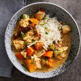 Fisch-Curry mit Kürbis