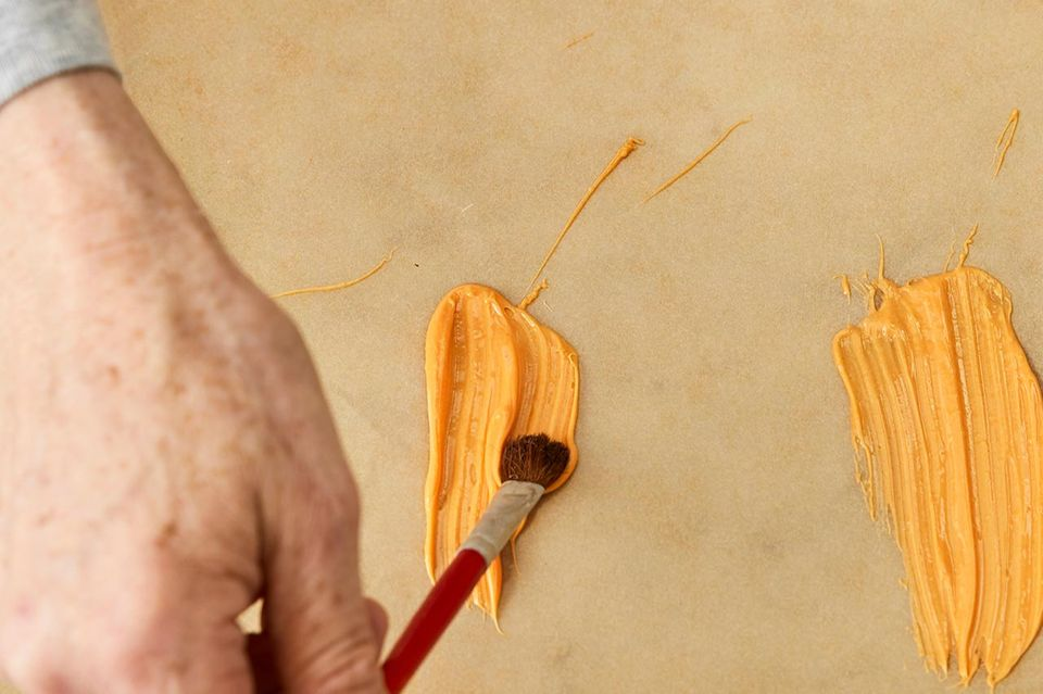 Herstellen der Brushstrokes aus Kuvertüre