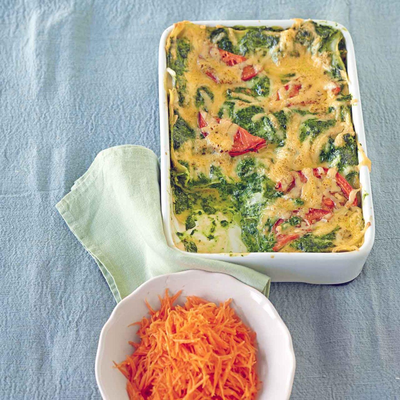 Spinat-Lasagne