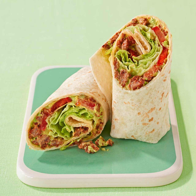 Hackfleisch-Avocado-Wraps