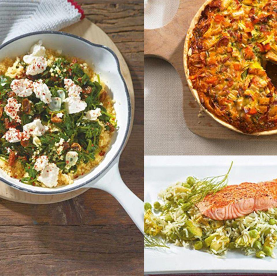 Drei Gerichte vom Wochenplan Nr. 4