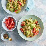 Kichererbsen-Pasta mit Erdbeeren