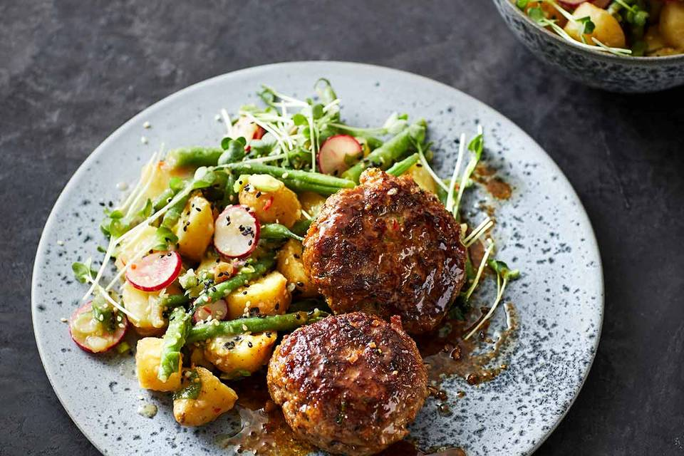 Asia-Kartoffelsalat mit Sesam Rezept