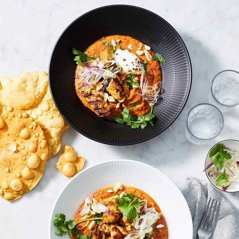 Tomaten-Chicken-Curry mit Joghurt