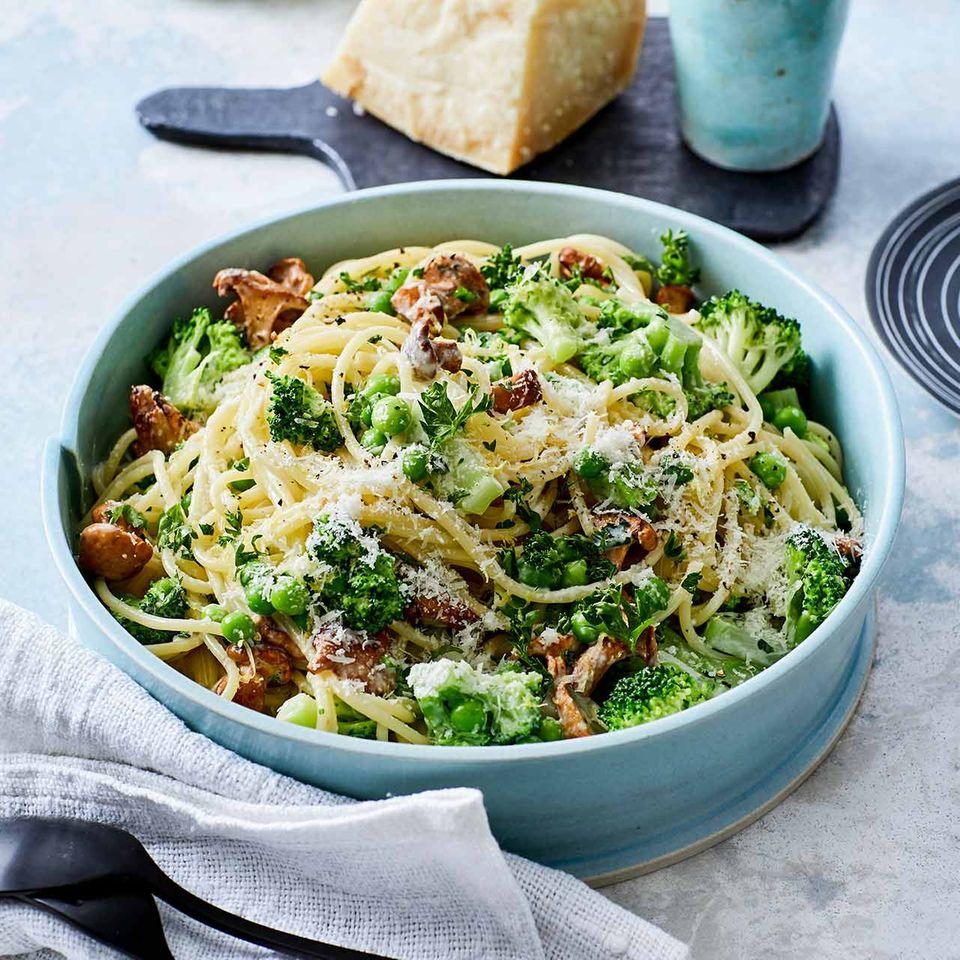 Gemüse-Parmesan-Spaghetti
