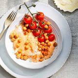 Cremige Tomaten-Polenta mit Kichererbsen
