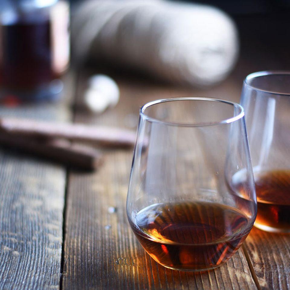 Rum in Gläsern