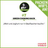 Nachhaltig. Green Cooking Hacks. Tipp