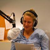 Christina Hollstein am Mikrofon