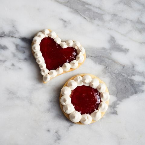 Preiselbeer-Makronen-Kekse