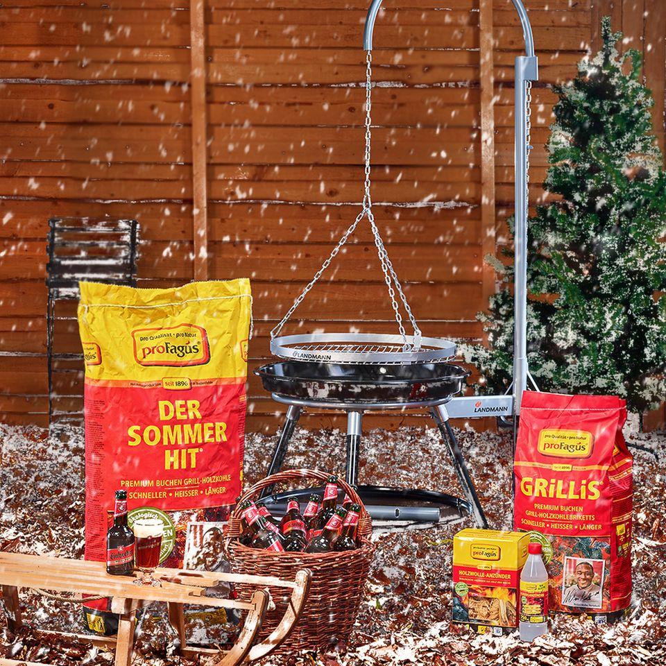 Gewinnspiel: Weihnachtlich grillen mit proFagus, Landmann und Einbecker – 2x 1 Grillpaket inkl. Grill zu gewinnen