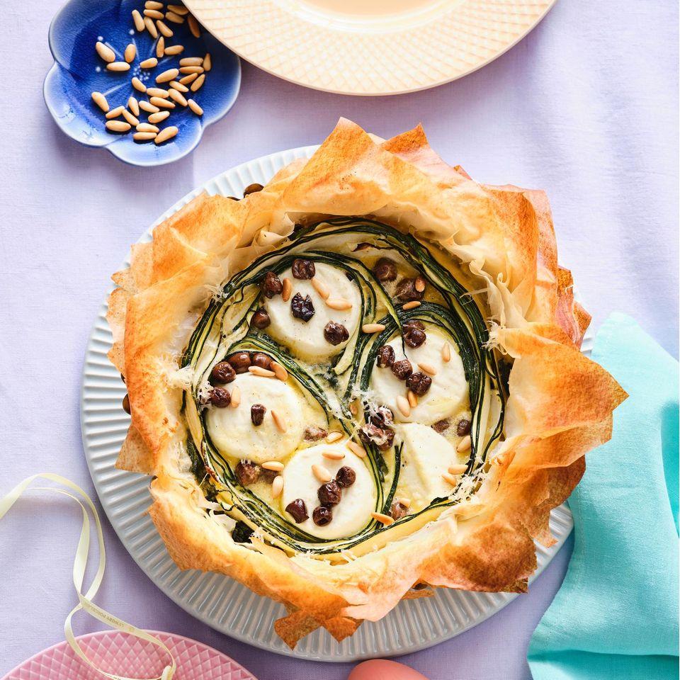 Zucchini-Ziegenkäse-Tarte
