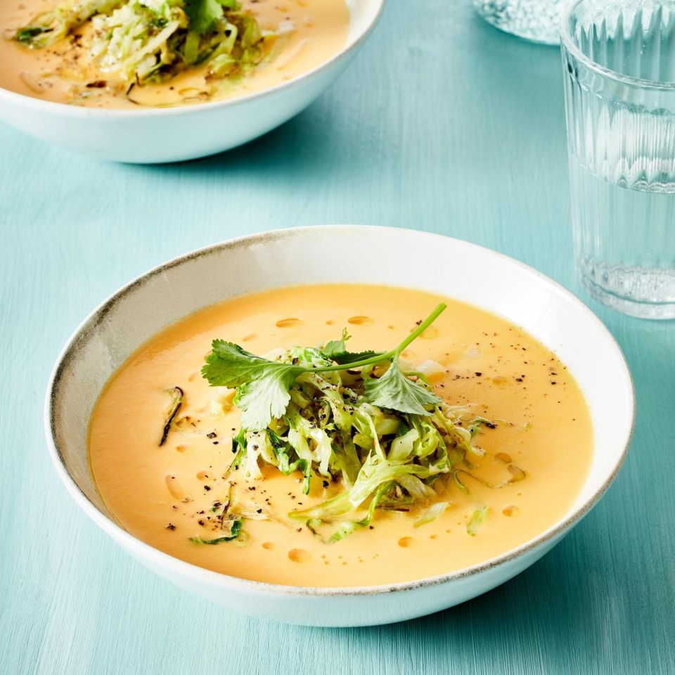 Süßkartoffel-Wasabi-Suppe