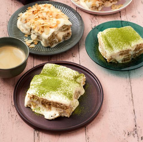 Tiramisu mit Mandeln und Yuzu-Sake