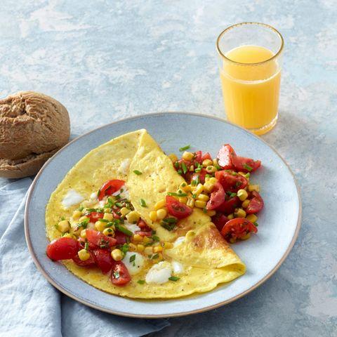 Omelette mit Ziegenfrischkäse