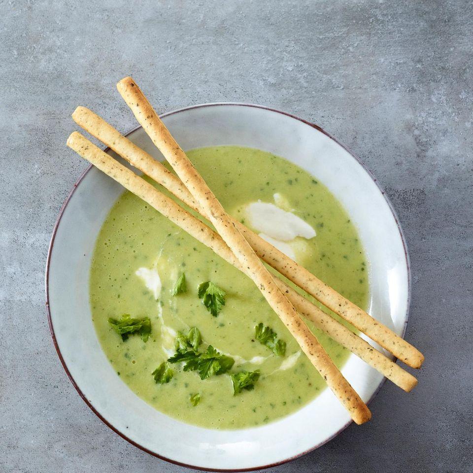 Lauch-Bärlauch-Suppe