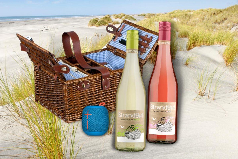 Gewinnspiel: Grillparty oder sonniger Feierabend – Strandgut Weinschorle und Picknickdecke nicht vergessen!