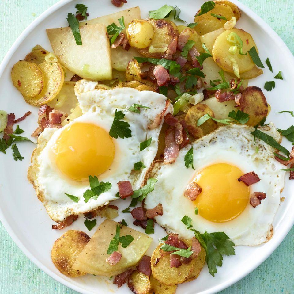 Kartoffel-Kohlrabi-Gröstl