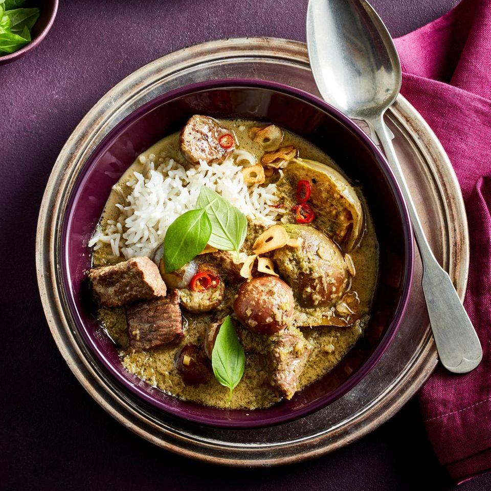 Thailändisches Rindfleisch-Auberginen-Curry