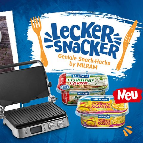 Gewinnspiel: Lecker Snacker! Gewinnen Sie mit MILRAM ein Alleskönner Snacking-Set