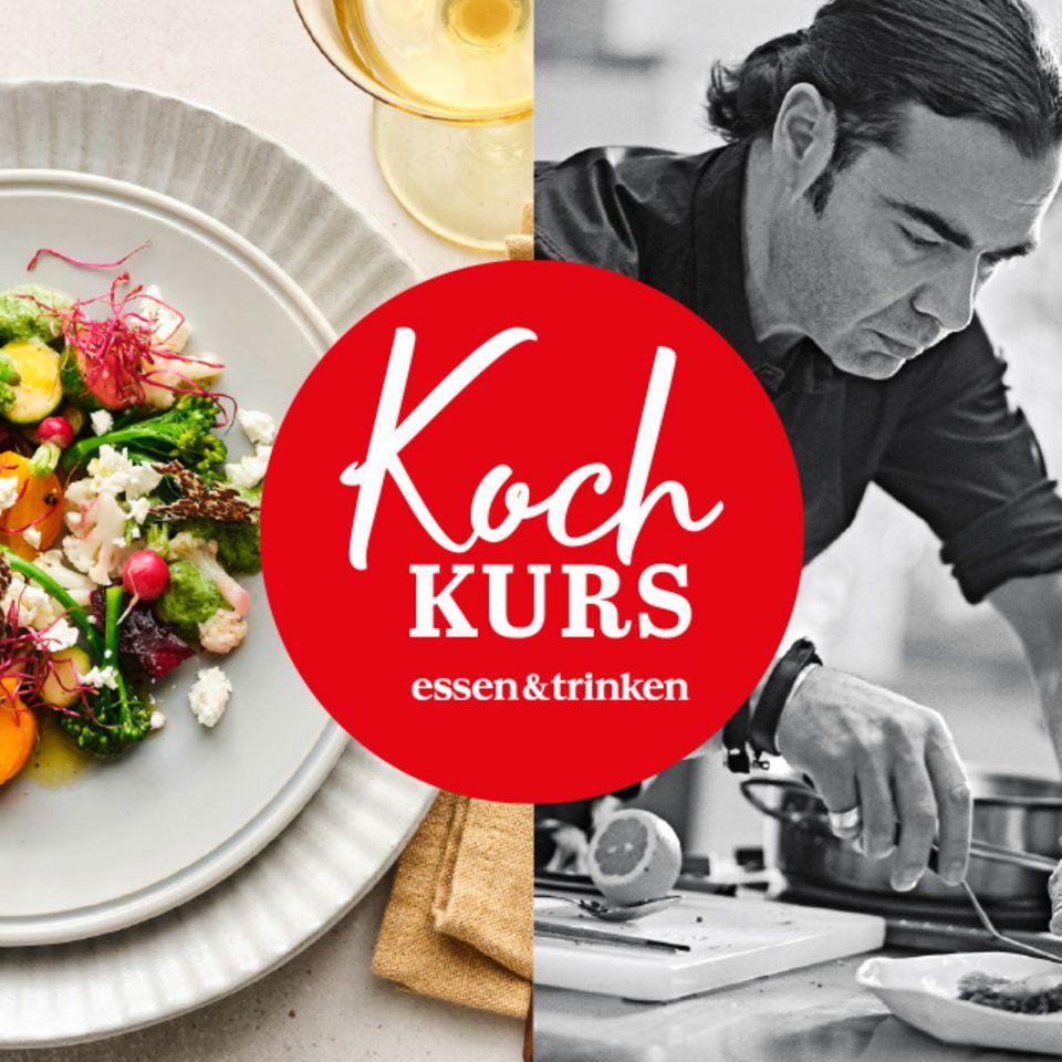 Teaserbild für Kochkurs Gemüse auf Teller und Chefkoch Achim Ellmer