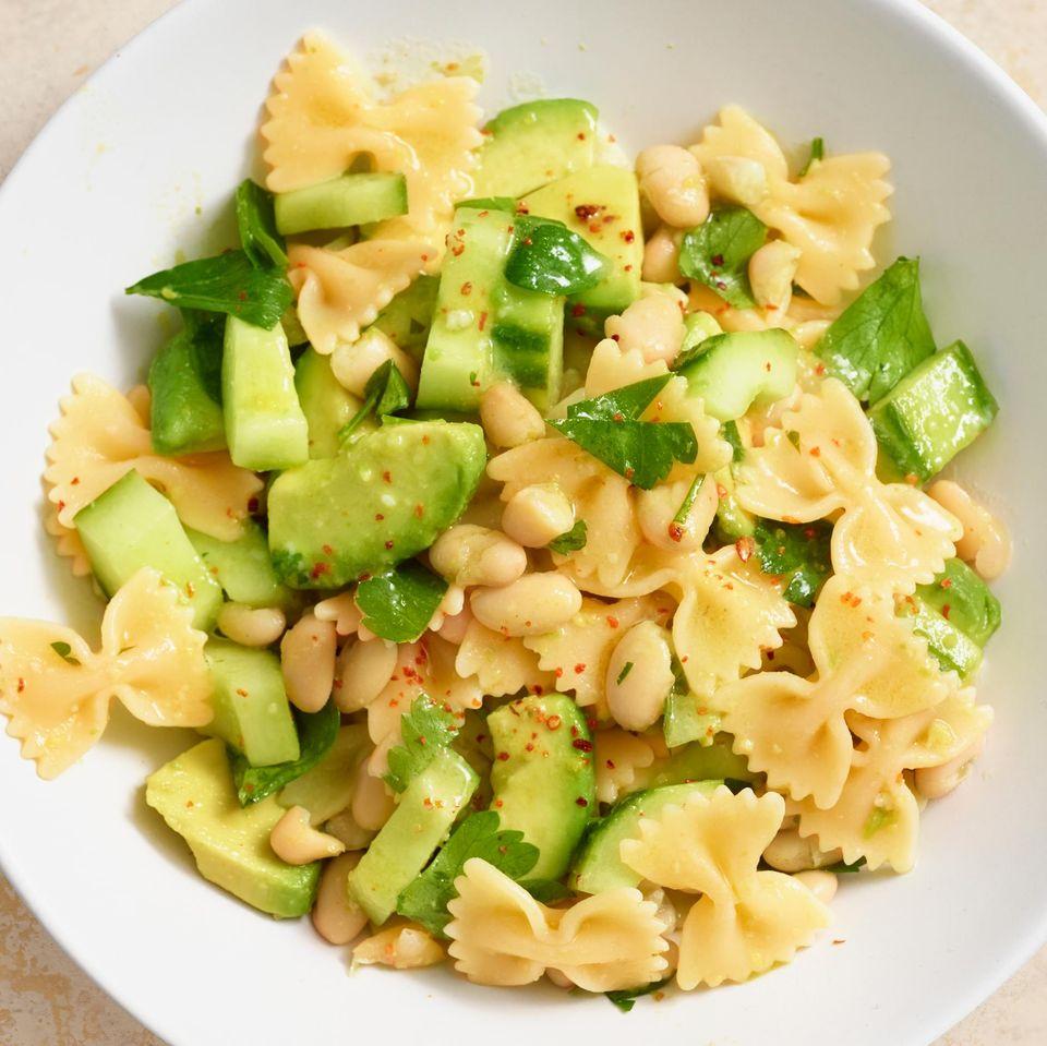 Bohnen-Avocado-Pasta