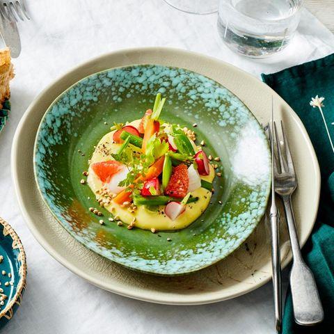 Sommergemüse-Salat mit Honig-Olivenöl-Creme