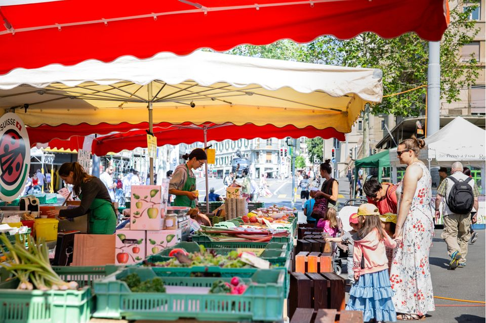 Wochenmarkt in Lausanne