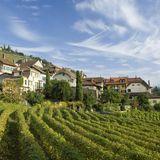 Dorf Epesses im Weinbaugebiet Calamin