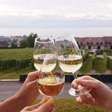 Weinprobe in Mont-sur-Rolle