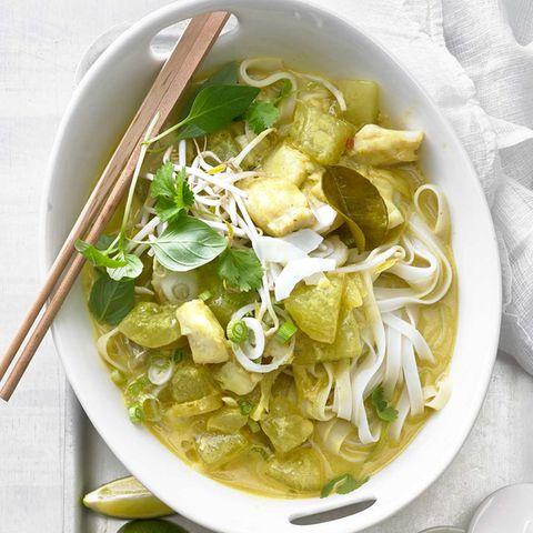 Thai-Gurken-Curry mit Kabeljau