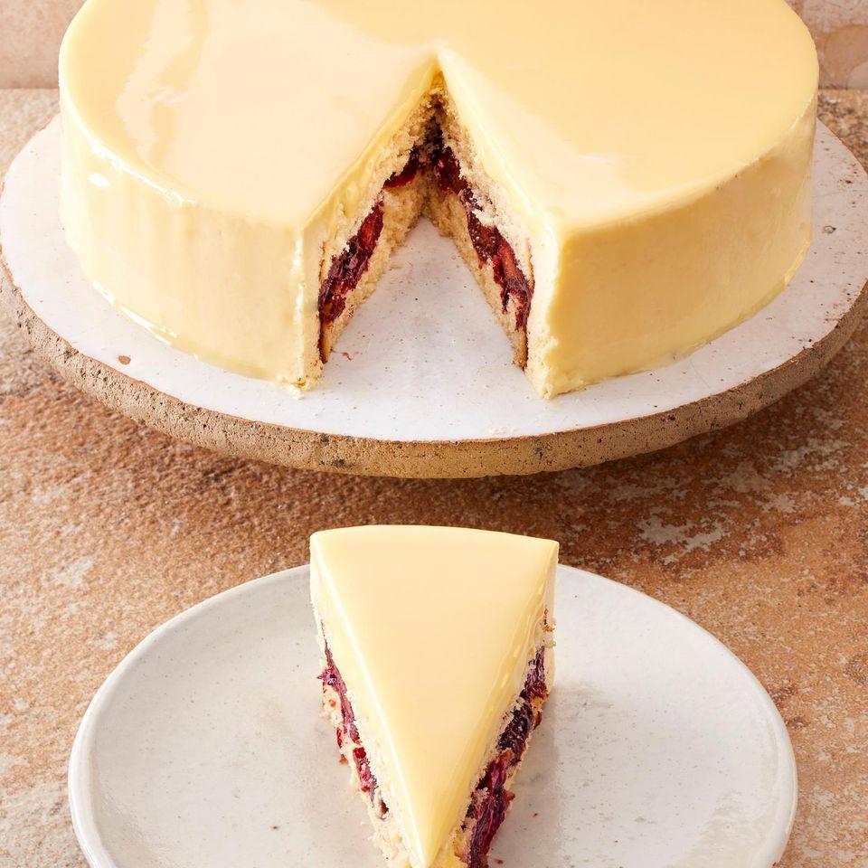 Eierlikör-Zwetschgen-Torte