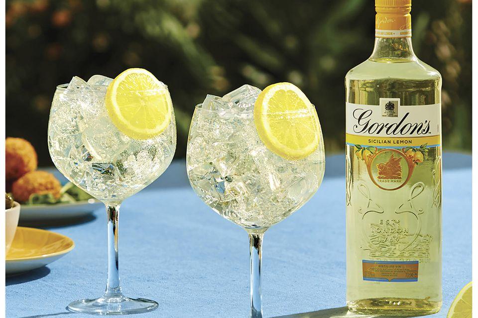 Gordon's Sicilian Lemon mit Tonic auf Eis