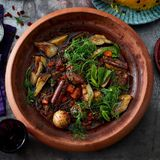 Lamm-Tajine mit persischem Reis